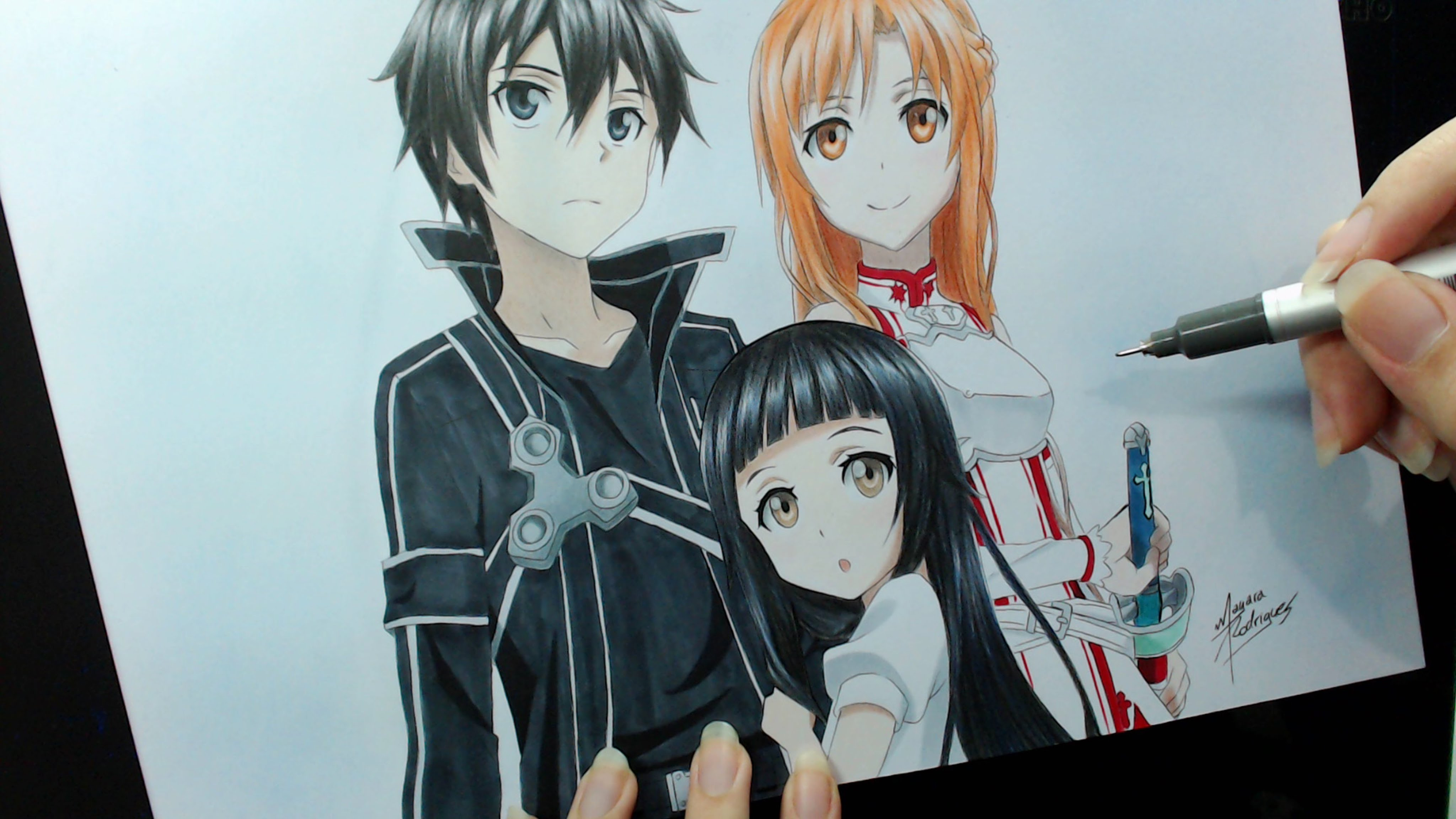 How To Draw Kirito And Asuna From Sword Art Online